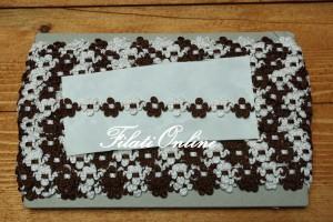 PAS7M fiorellini marroni e bianchi disponibili 6 confezioni +1 da 17metri