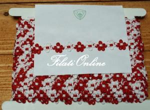 PAS7R fiorellini rossi e bianchi disponibili 4 confezioni