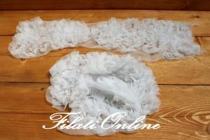 PAS9 decorazioni di tulle bianco