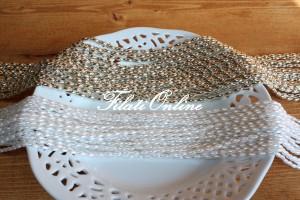 PER8 perline su filo bianco e argento