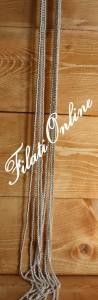 PER9 perline argento su filo bianco