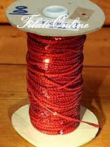 PA304 filato di paillettes rosse
