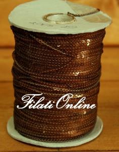 PA300 Filato di paillette color marrone ramato