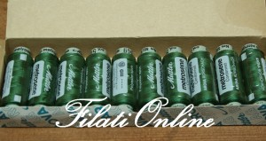 KA7 filati in spagnolette per cucire verde