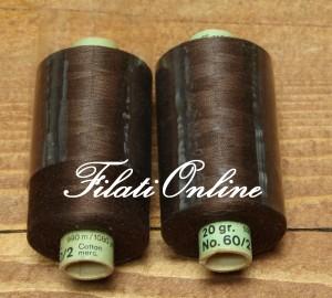 KA9 filati in spagnolette per cucire color moro.