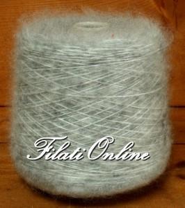 WM407GC Filato misto lana e mohair grigio chiaro 605gr 18,15€
