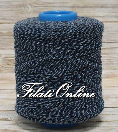 WO251 Filato misto lana e cotone blu fantasia