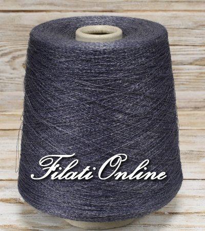 AL11 filato blu metallo con lurex grigio