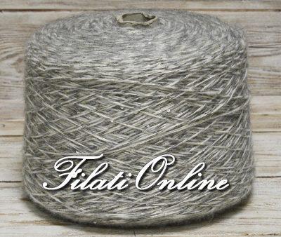 PA352 Filato misto lana grigio melange con paillettes argento 5€/hg