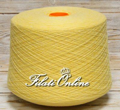 WSO103 Filato misto cashmere giallo canarino melange
