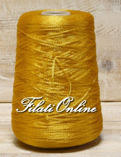 FL200G filato fettuccia tipo lurex giallo 350gr 14€ - 355gr 14,20€ - 300gr 12€ - 370gr 14,80€
