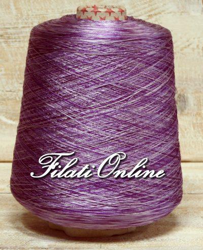 VI60lv Viscosa simil seta stampata lilla e viola
