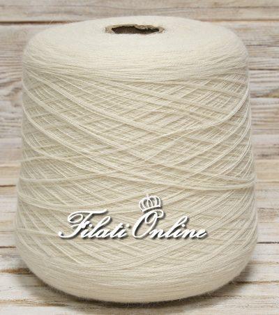 WP110 Filato lana alpaca greggia pettinata colore naturale panna