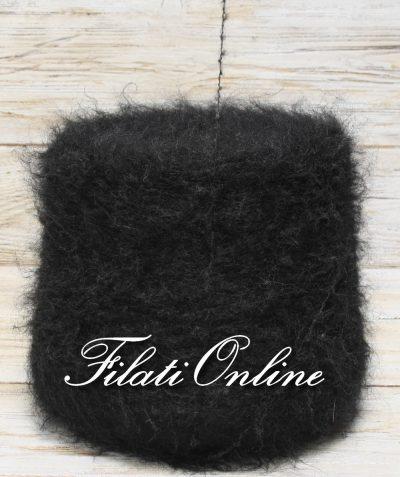 WM207 Filato misto mohair nero melangiato in grigio