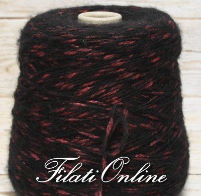 WM410NR Filato in mohair e cotone nero rosso 1040gr 35,36€ - 995gr 33,83€ - 805gr 27,37€