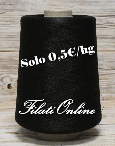 A50N filato in polyester Nero 935gr 4,68€ - 1130gr 5,65€ - lotto di 7 rocche dal peso netto di 1100gr - 5,50€ - 620gr 3,10€ - 975gr 4,85€ - 1060gr 5,30€ disponibili altre rocche.