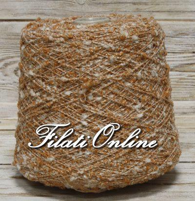 WVL150A pura lana bianca e arancio con lurex oro
