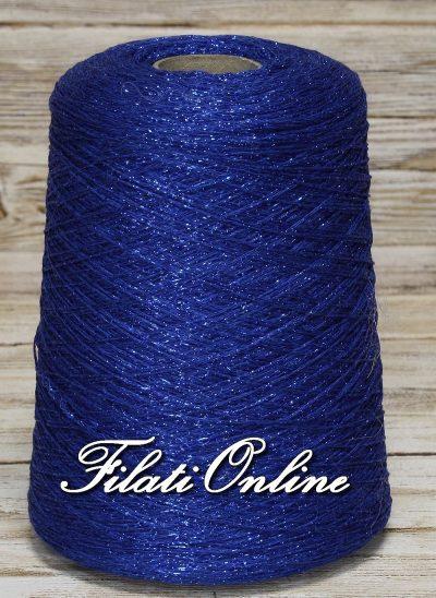 VICL150be Filato catenella di viscosa con lurex blu elettrico
