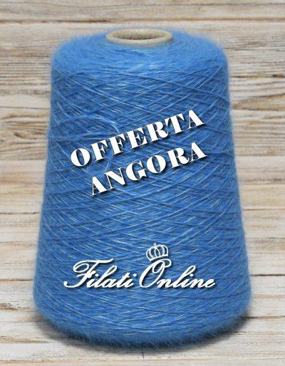 WA150az Filato in angora e seta color azzurro.