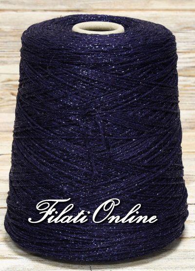 VICL150bl Filato catenella di viscosa con lurex blu scuro 960gr 38,40€ - 570gr 22,80€ - 245gr 9,80€