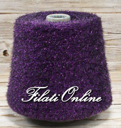 PL153vi Filato pelliccioso con lurex vari colori viola