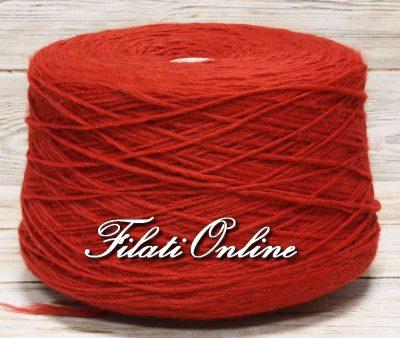 WO406 filato stoppino misto lana color rosso natale