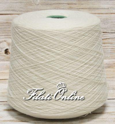 WV106 Filato in pura lana color bianco latte Loro Piana