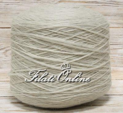 WV300 Filato stoppino in pura lana grossa color naturale, grigio chiaccio
