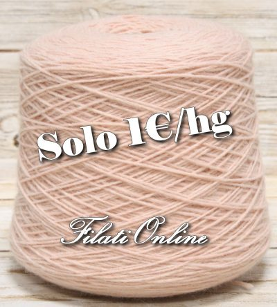 WO205 filato stoppino misto lana color rosa carne