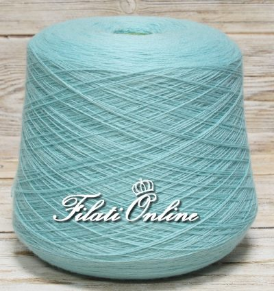 WV150v Filato in pura lana color verde acqua