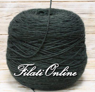 WOL305 filato misto lana verde con lurex verde