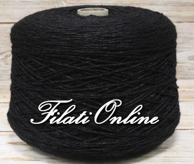 WP300 Filato in lana di alpaca color antracite con lurex nero