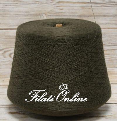 WV81 Filato in pura lana color verde milatare